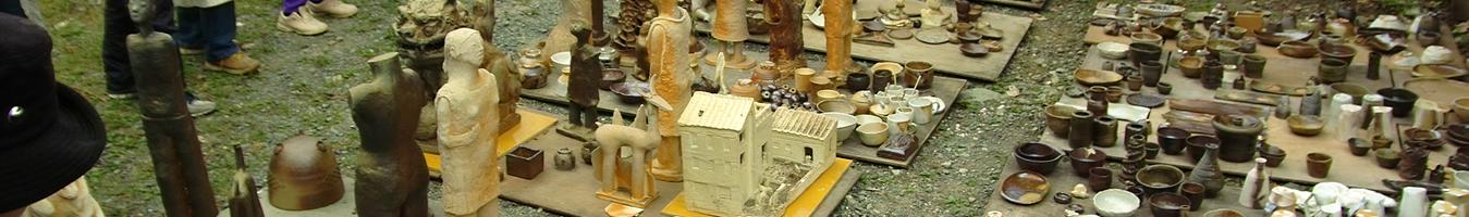 自然エネルギー焼成による陶芸作品
