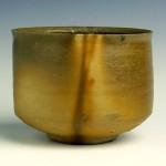 備前土の抹茶茶碗 割竹式穴窯焼成